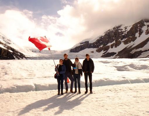 Athabasca Glacier samen